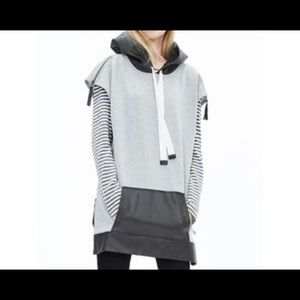 Banana Republic Oversized hoodie with faux leather